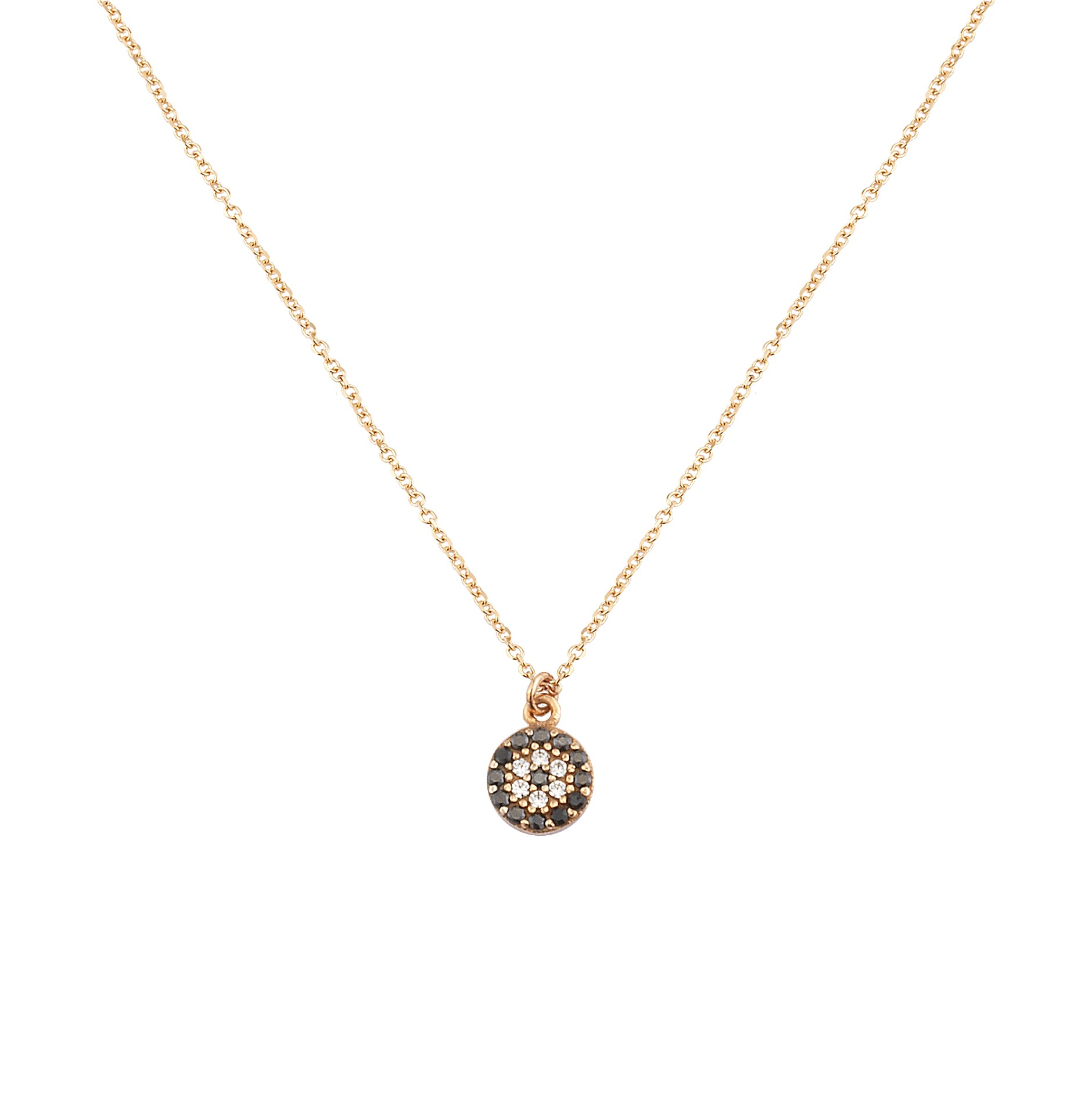 Κολιέ με Ζιργκόν Ροζ Χρυσός Κ9 - 10373