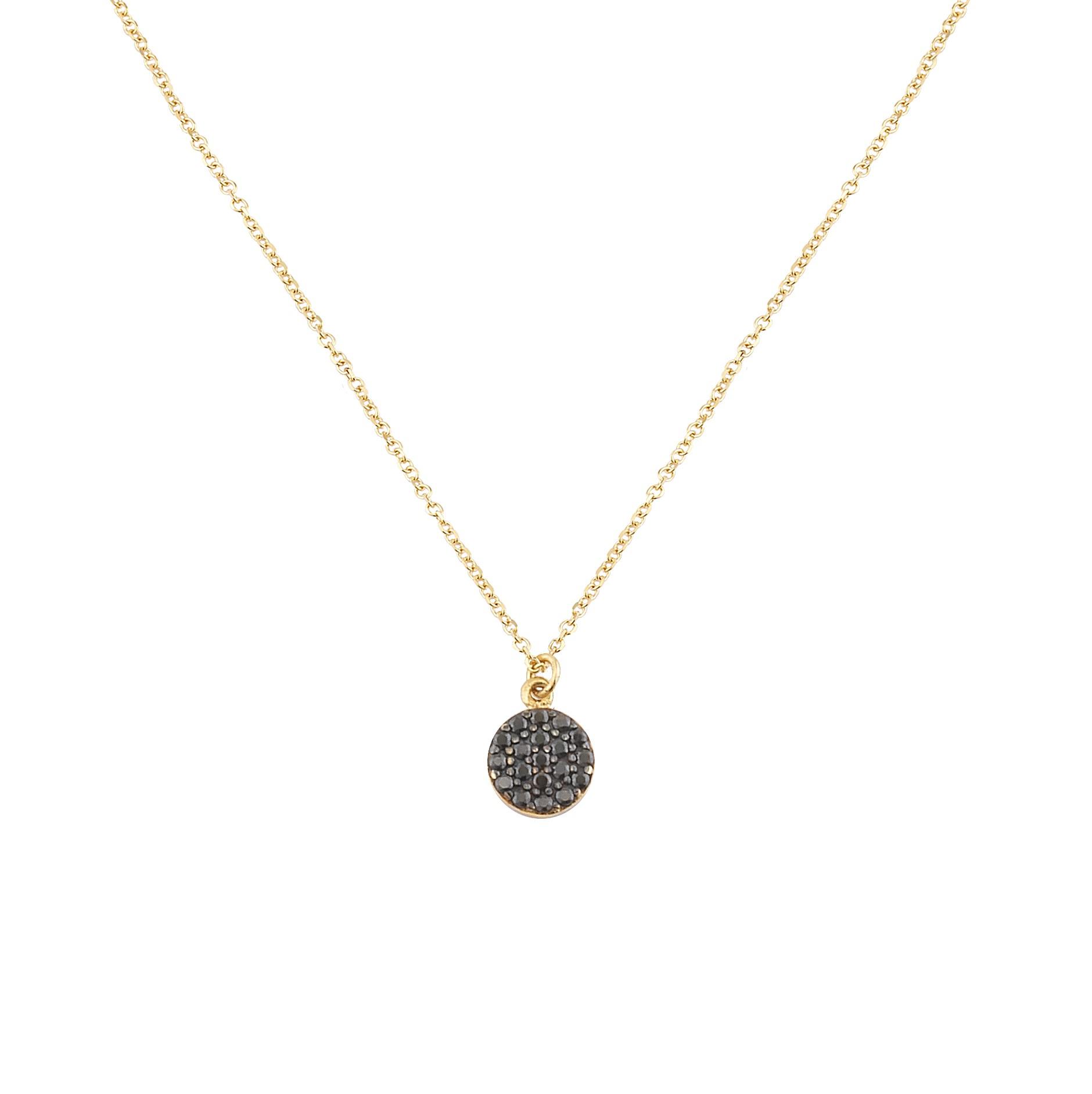 Κολιέ με Μαύρα Ζιργκόν Χρυσός Κ9 - 10367