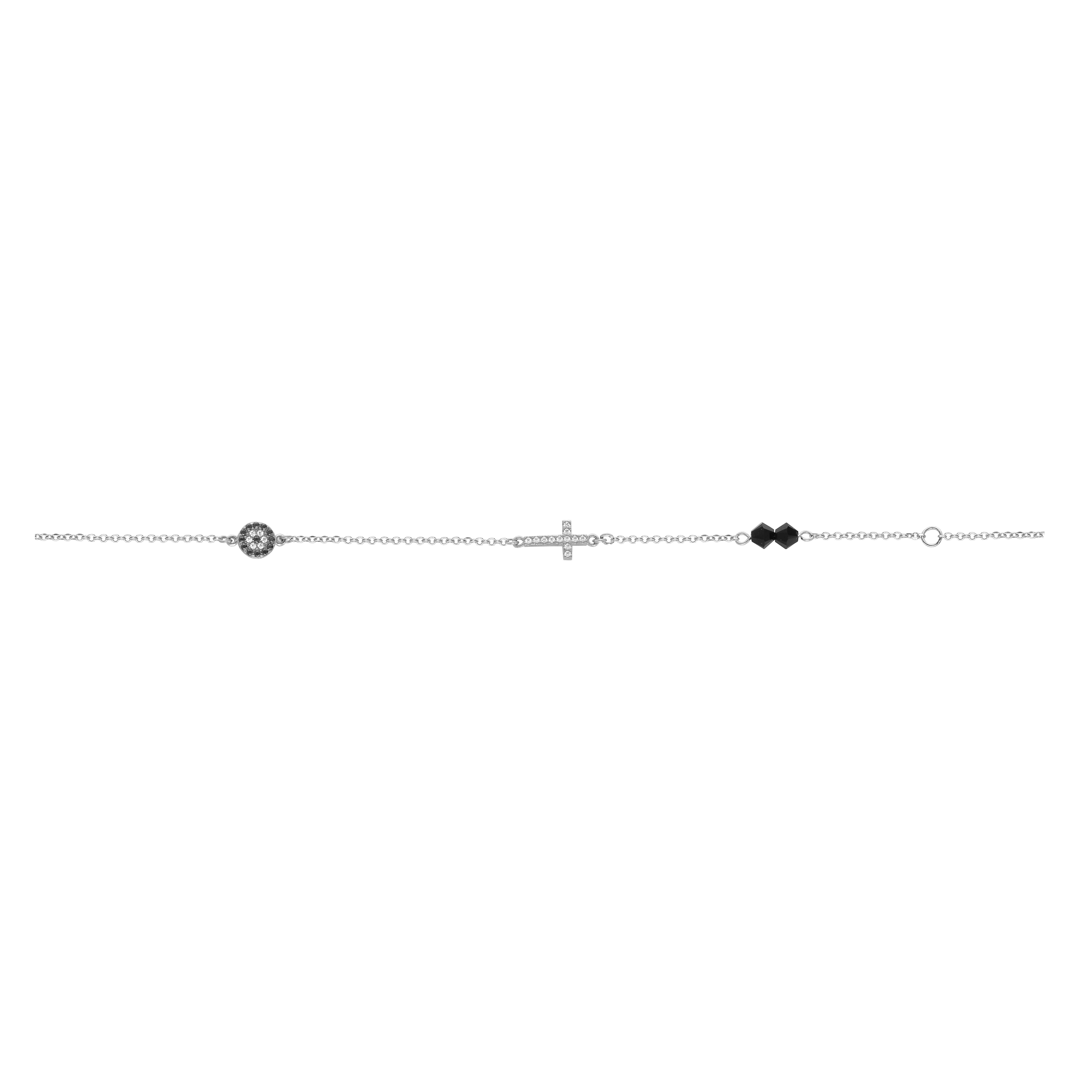Βραχιόλι με Ζιργκόν Λευκόχρυσος Κ9 - 10066