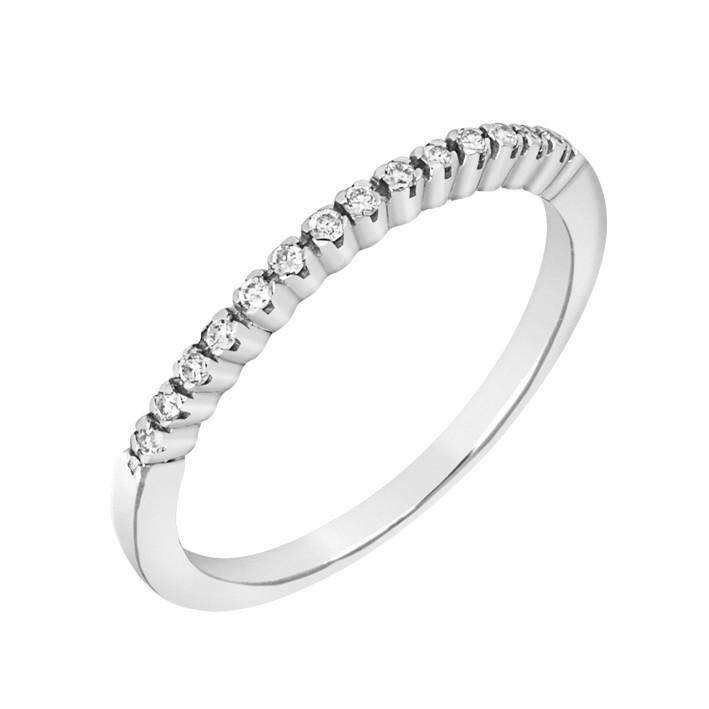 Δαχτυλίδι Μισόβερο με Διαμάντια Λευκόχρυσος Κ18 - 17008