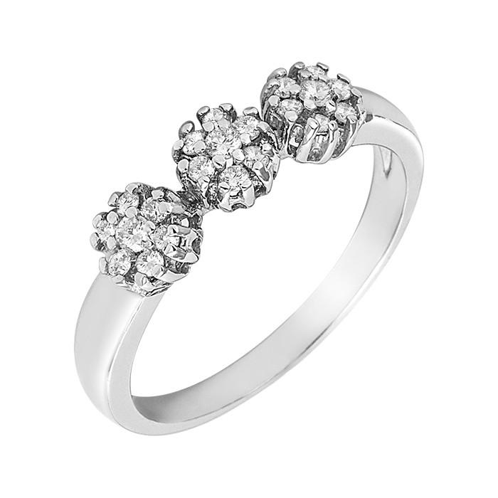 Δαχτυλίδι με Διαμάντια Λευκόχρυσος Κ18 - 15063