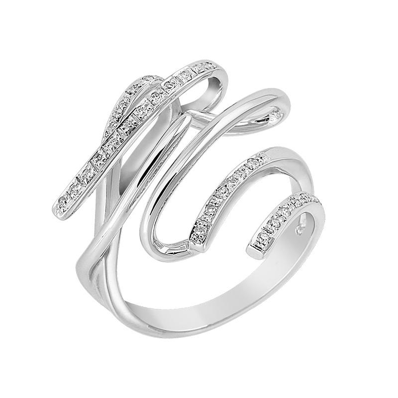 Δαχτυλίδι με Διαμάντια Λευκόχρυσος Κ18 - 06449