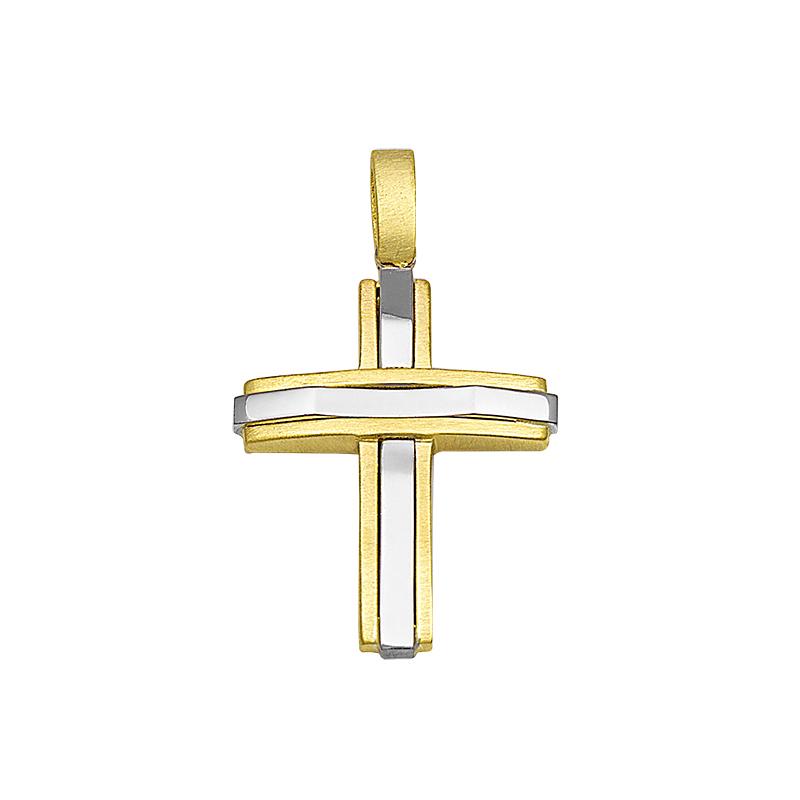 Σταυρός Χρυσός και Λευκόχρυσος Κ14 - 13093M