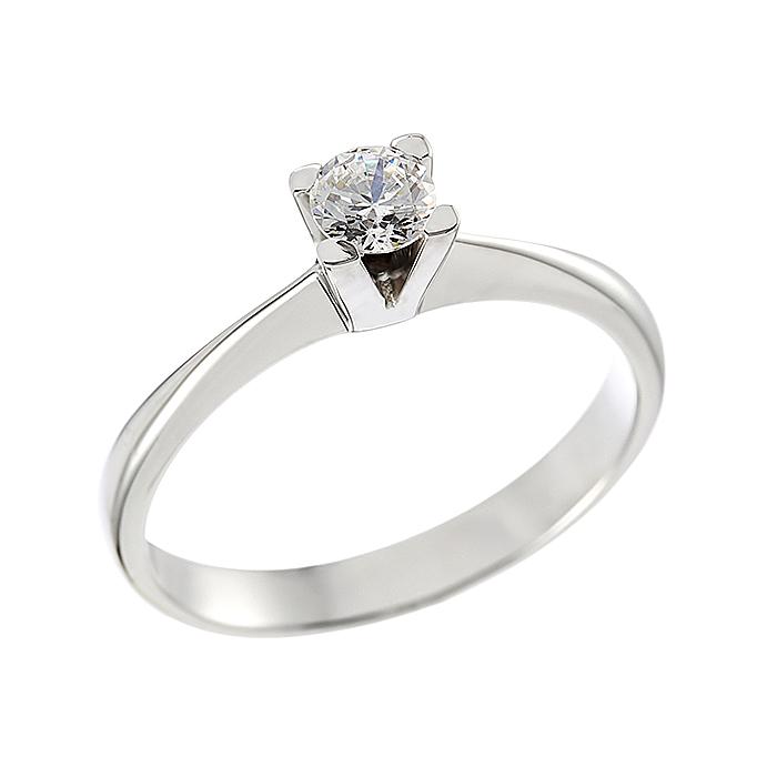 Δαχτυλίδι Μονόπετρο με Διαμάντι Λευκόχρυσος Κ18 - 062626R