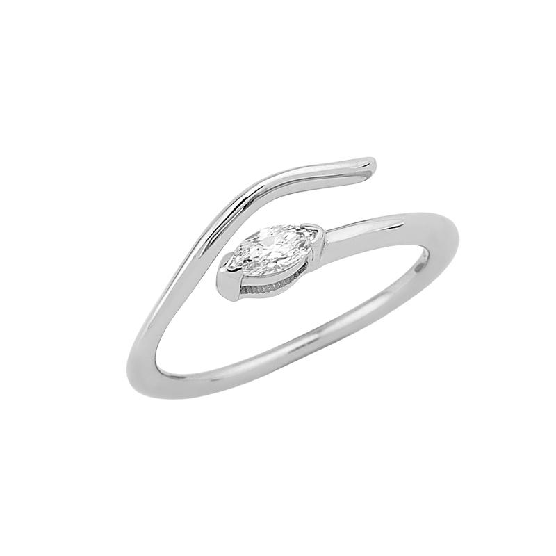 Δαχτυλίδι Chevalier με Διαμάντι Λευκόχρυσος Κ18-16013