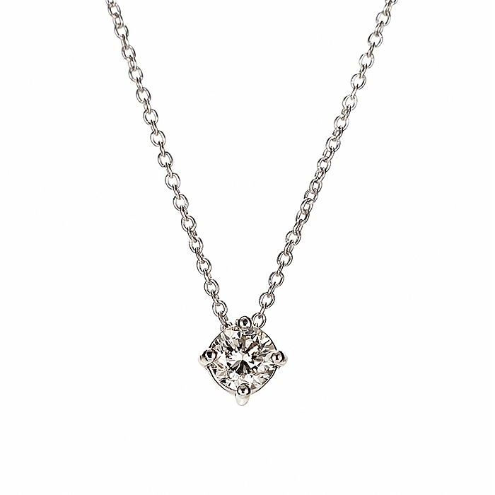 Μονόπετρο Μενταγιόν με Διαμάντι Λευκόχρυσος Κ18 - 090262P