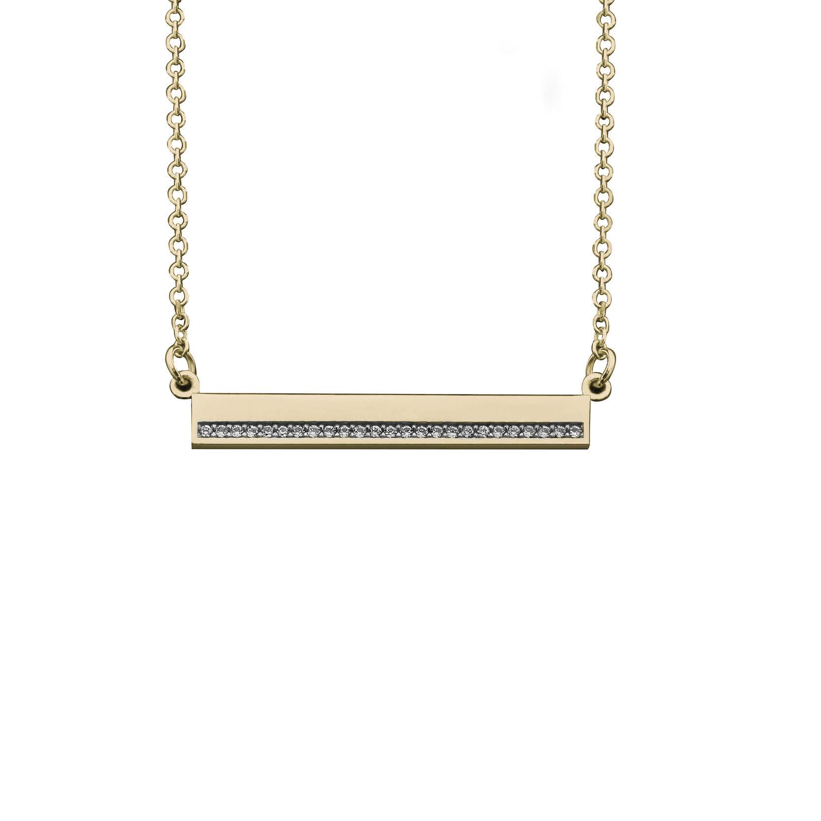 Κολιέ με Ζιργκόν Χρυσός Κ14 - 03Ν390