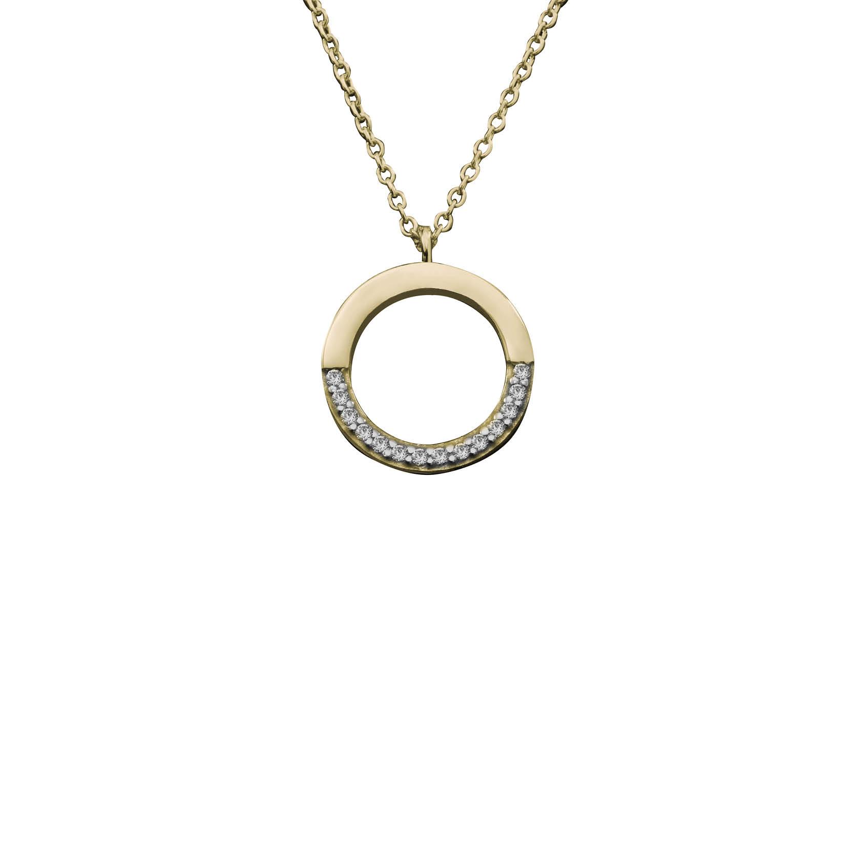 Κολιέ με Ζιργκόν Χρυσός Κ14 - 03Ν394