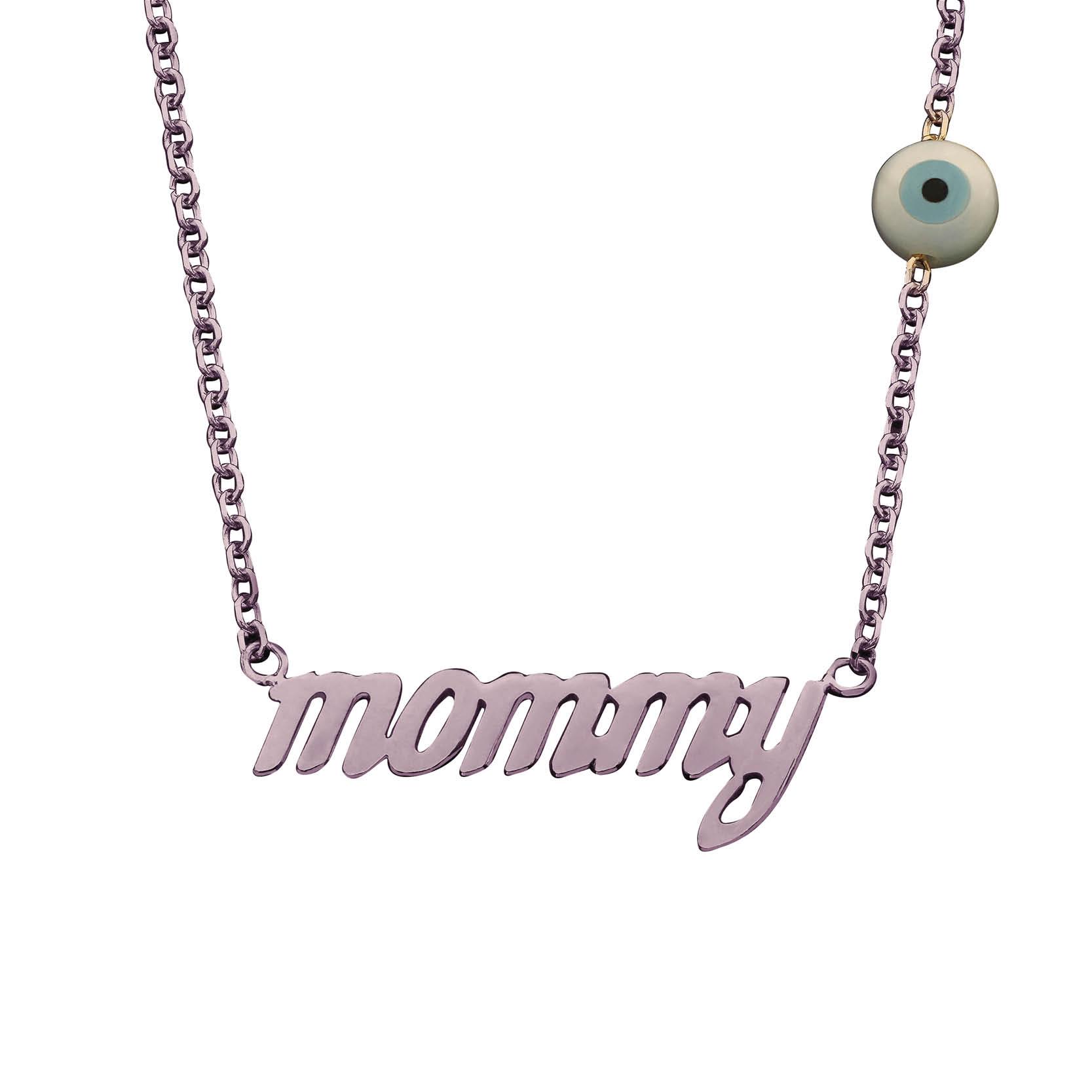 Κολιέ Mommy Ροζ Χρυσός Κ14 - 03Ν106