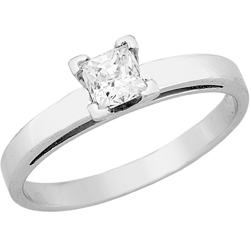 Δαχτυλίδι Μονόπετρο με Διαμάντι Λευκόχρυσος Κ18 - 13080
