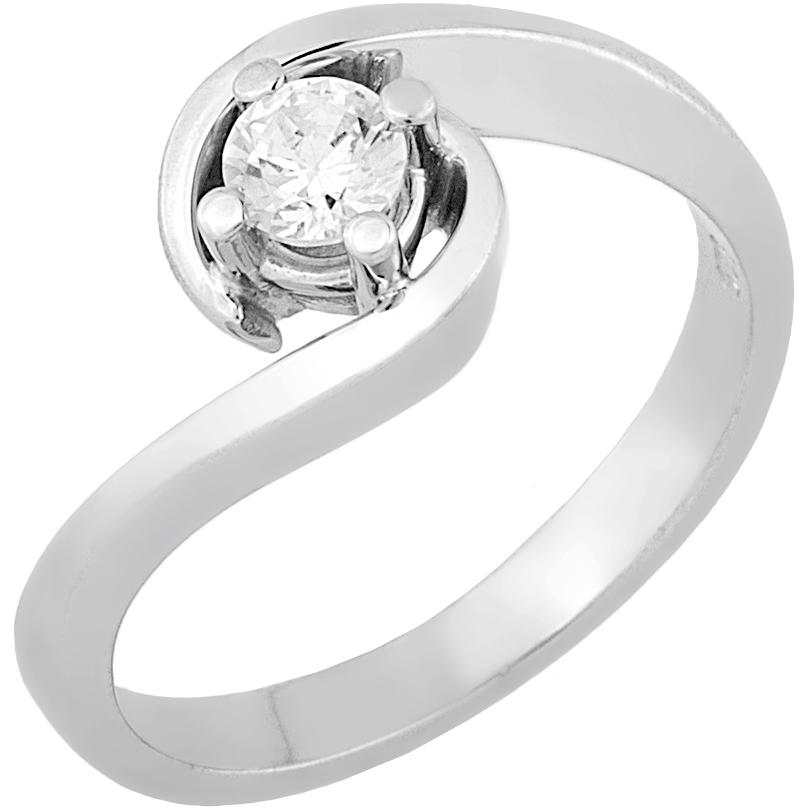 Δαχτυλίδι Μονόπετρο με Διαμάντι Λευκόχρυσος Κ18 - 16041