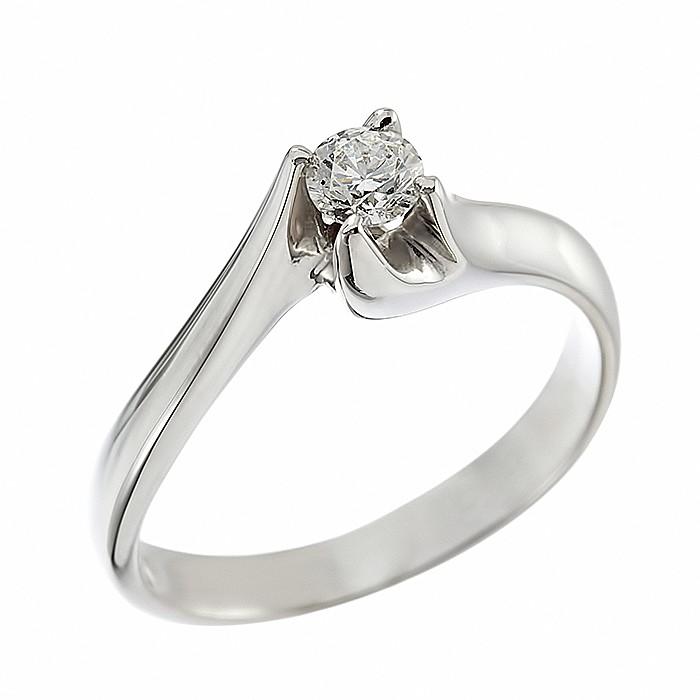 Δαχτυλίδι Μονόπετρο με Διαμάντι Λευκόχρυσος Κ18 - 06266