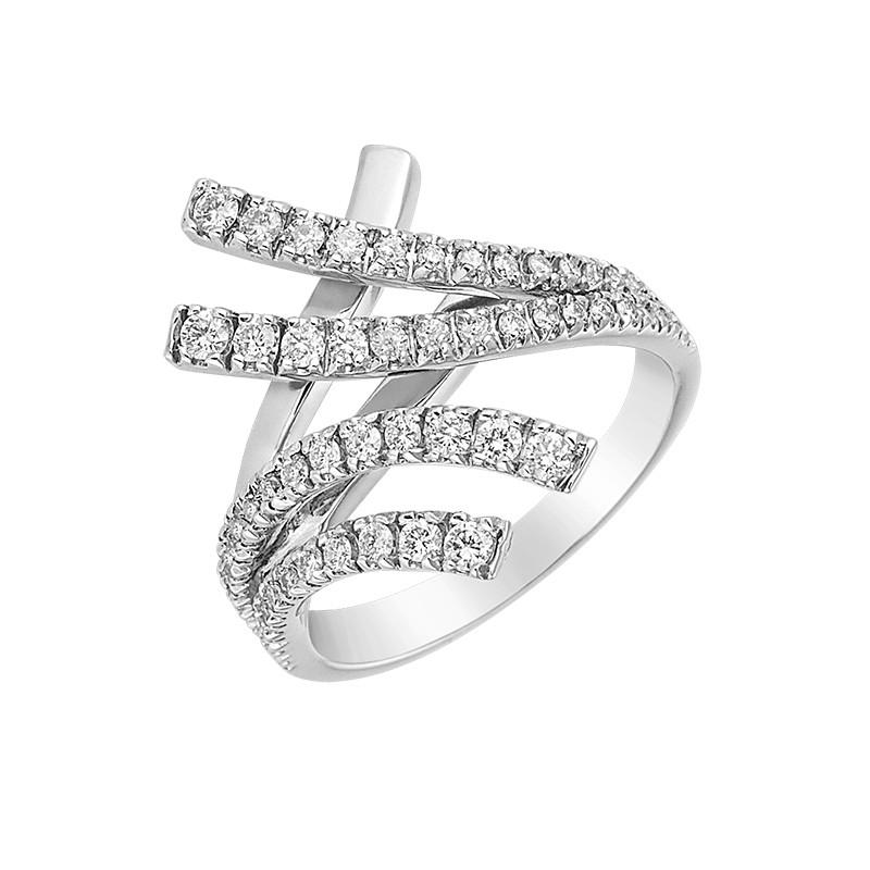 Δαχτυλίδι με Διαμάντια Λευκόχρυσος Κ18 - 06448