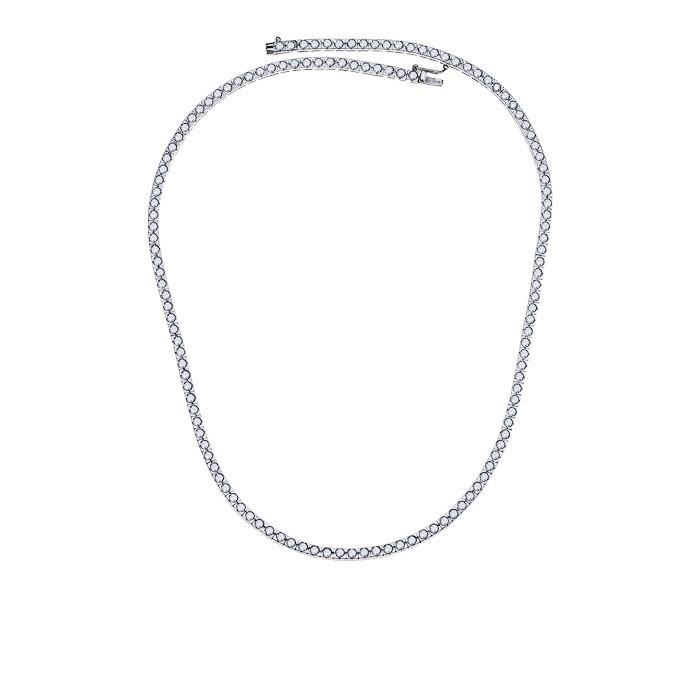 Κολιέ με Διαμάντια Λευκόχρυσος Κ18 - 06511