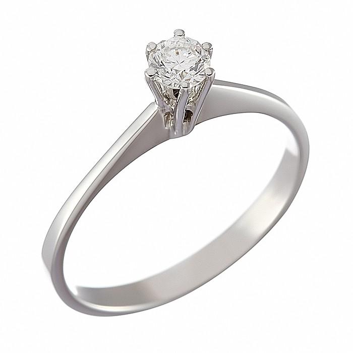Δαχτυλίδι Μονόπετρο με Διαμάντι Λευκόχρυσος Κ18 - 070091R