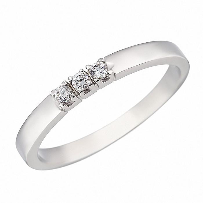 Δαχτυλίδι Μισόβερο με Ζιργκόν Λευκόχρυσος Κ14 - 07119