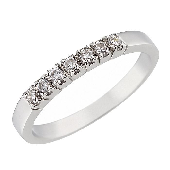 Δαχτυλίδι Μισόβερο με Ζιργκόν Λευκόχρυσος Κ14 - 07121