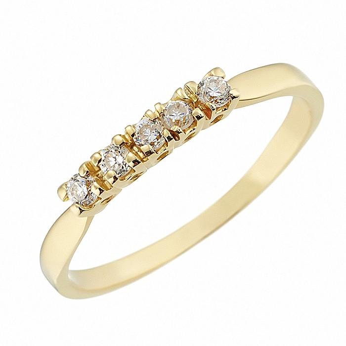 Δαχτυλίδι Μισόβερο με Ζιργκόν Χρυσός Κ14 - 07133Y