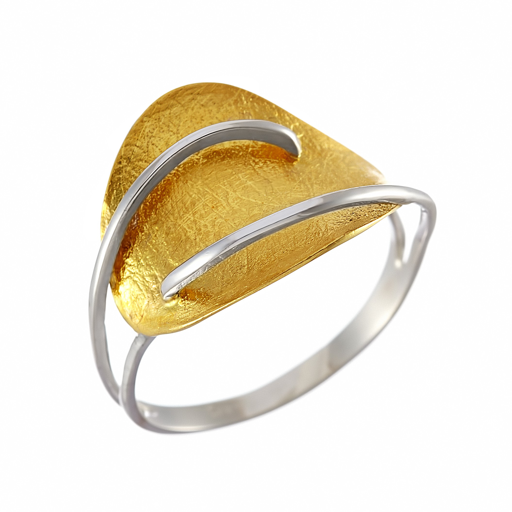 Δαχτυλίδι Δίχρωμο Κ14 - 07380