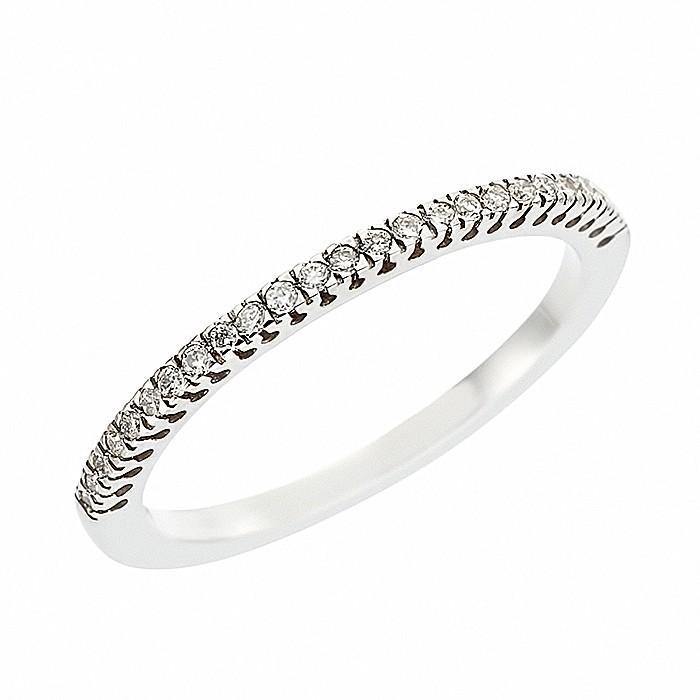 Δαχτυλίδι Μισόβερο με Διαμάντια Λευκόχρυσος Κ18 - 08162