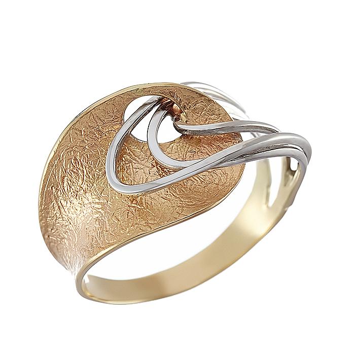 Δαχτυλίδι Δίχρωμο Κ14 - 08324