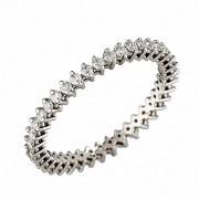 Δαχτυλίδι Ολόβερο με Διαμάντια Λευκόχρυσος Κ18 - 07260