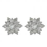 Σκουλαρίκια με Διαμάντια Λευκόχρυσος Κ18 - 0279