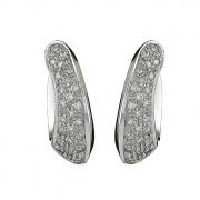 Σκουλαρίκια με Διαμάντια Λευκόχρυσος Κ18 - 04084
