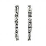 Σκουλαρίκια με Διαμάντια Λευκόχρυσος Κ18 - 07242