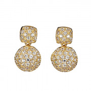 Σκουλαρίκια με Ζιργκόν Χρυσός Κ14 - 09100