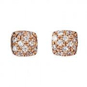 Σκουλαρίκια με Ζιργκόν Ροζ Χρυσός Κ14 - 09101