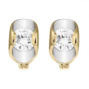 Σκουλαρίκια με Ζιργκόν Χρυσός Κ14 - 08303