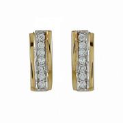 Σκουλαρίκια με Ζιργκόν Χρυσός Κ14 - 08185