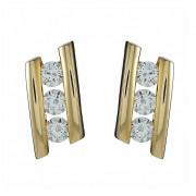 Σκουλαρίκια με Ζιργκόν Χρυσός Κ14 - 08187