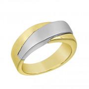Δαχτυλίδι Ανδρικό Δίχρωμο Κ14 - 90231