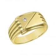 Δαχτυλίδι Ανδρικό με Ζιργκόν Χρυσός Κ14 - 92098