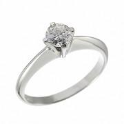 Δαχτυλίδι Μονόπετρο με Διαμάντι Λευκόχρυσος Κ18 - 062671R