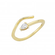 Δαχτυλίδι Chevalier με Διαμάντι Χρυσός Κ18-16014