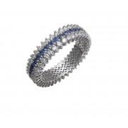 Δαχτυλίδι με Διαμάντια και Ζαφείρια Λευκόχρυσος Κ18 - 072611R