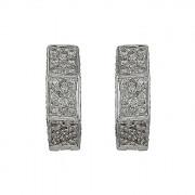 Σκουλαρίκια με Διαμάντια Λευκόχρυσος Κ18 - 33000