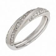 Δαχτυλίδι με Διαμάντια Λευκόχρυσος Κ18 - 05353