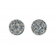 Σκουλαρίκια με Ζιργκόν Λευκόχρυσος Κ9 - 16063