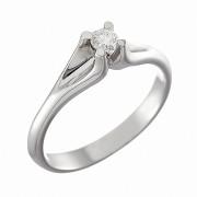 Δαχτυλίδι Μονόπετρο με Διαμάντι Λευκόχρυσος Κ18 - 041532R