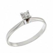 Δαχτυλίδι Μονόπετρο με Διαμάντι Λευκόχρυσος Κ18 - 04343