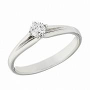 Δαχτυλίδι Μονόπετρο με Διαμάντι Λευκόχρυσος Κ18 - 06260