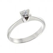 Δαχτυλίδι Μονόπετρο με Διαμάντι Λευκόχρυσος Κ18 - 06262