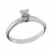 Δαχτυλίδι Μονόπετρο με Διαμάντι Λευκόχρυσος Κ18 - 06263