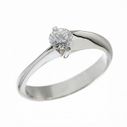 Δαχτυλίδι Μονόπετρο με Διαμάντι Λευκόχρυσος Κ18 - 062643R