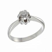 Δαχτυλίδι Μονόπετρο με Διαμάντι Λευκόχρυσος Κ18 - 06388