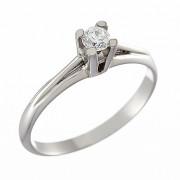 Δαχτυλίδι Μονόπετρο με Διαμάντι Λευκόχρυσος Κ18 - 06398